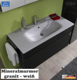 marlin idea waschtisch set mit 100 cm mineralmamror waschtisch unterschrank v2 3 impuls home. Black Bedroom Furniture Sets. Home Design Ideas