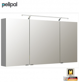 pelipal neutraler spiegelschrank 140 cm mit led. Black Bedroom Furniture Sets. Home Design Ideas
