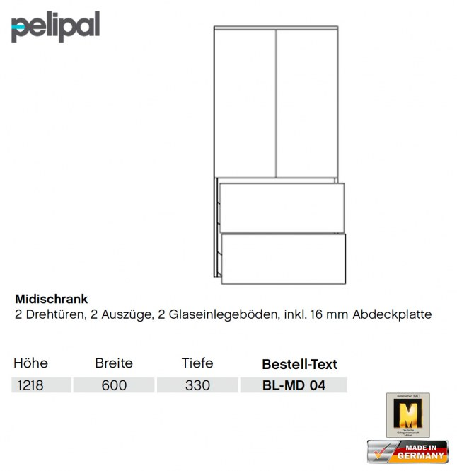 pelipal balto midischrank 122 cm bl md 04 impuls home. Black Bedroom Furniture Sets. Home Design Ideas