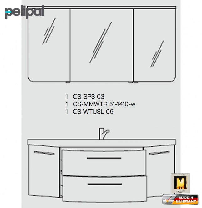 pelipal cassca badm bel set 140 cm v3 1 impuls home. Black Bedroom Furniture Sets. Home Design Ideas