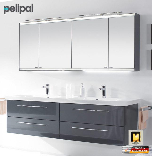 pelipal vialo badm bel set mit 1826 mm doppel waschtisch v5 5 impuls home. Black Bedroom Furniture Sets. Home Design Ideas