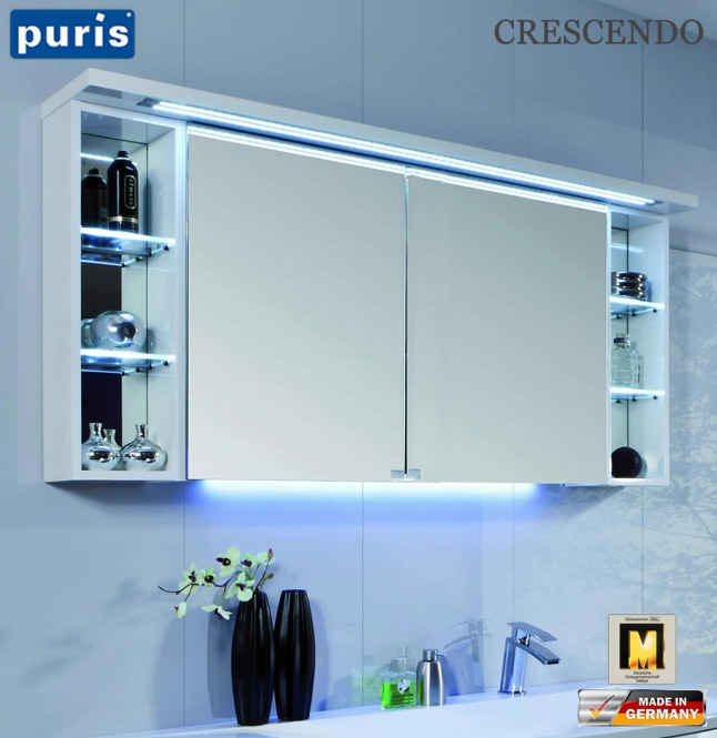 puris crescendo led spiegelschrank 140 cm s2a431426l. Black Bedroom Furniture Sets. Home Design Ideas