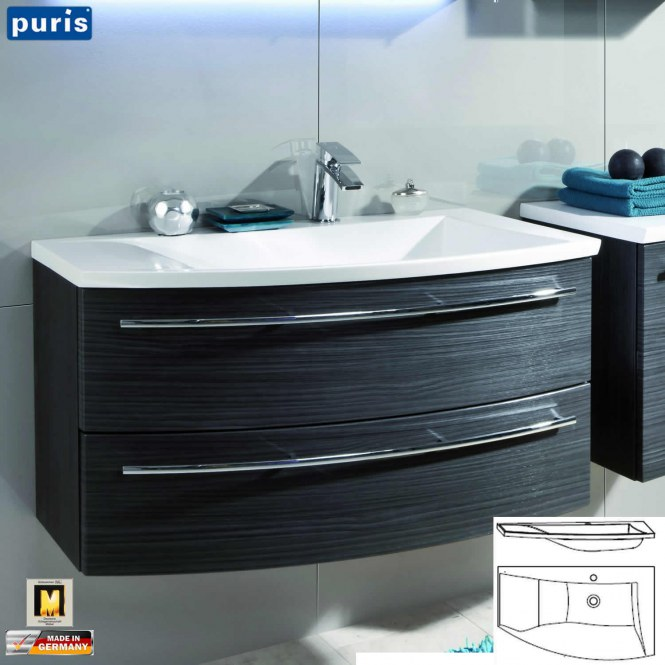 puris crescendo waschtisch set 90 cm variante l. Black Bedroom Furniture Sets. Home Design Ideas
