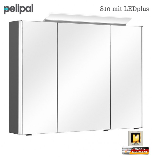 pelipal neutraler spiegelschrank 92 cm mit ledplus s10 sps 13 impuls home. Black Bedroom Furniture Sets. Home Design Ideas