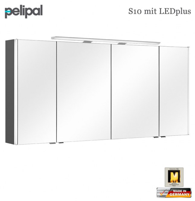pelipal neutraler spiegelschrank 152 cm mit ledplus s10. Black Bedroom Furniture Sets. Home Design Ideas