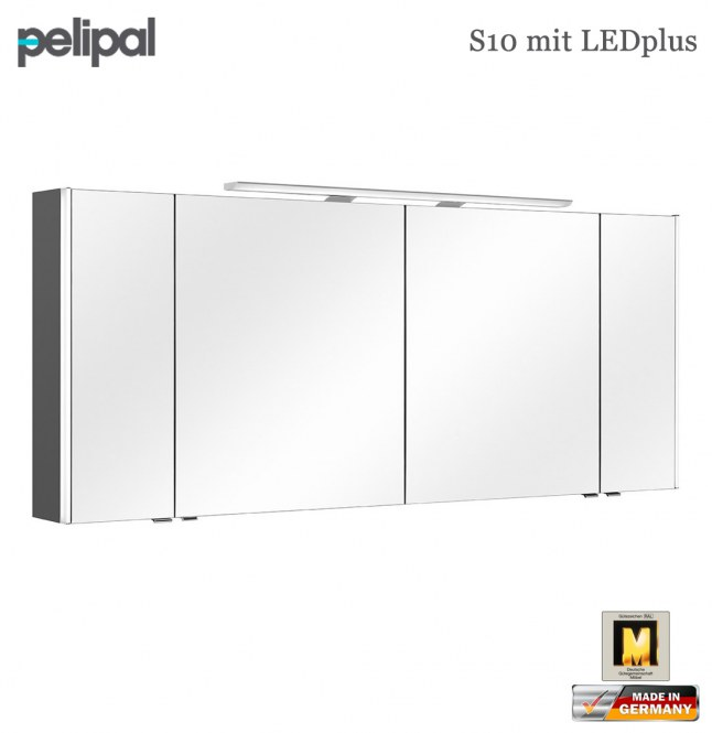 pelipal neutraler spiegelschrank 172 cm mit ledplus s10. Black Bedroom Furniture Sets. Home Design Ideas