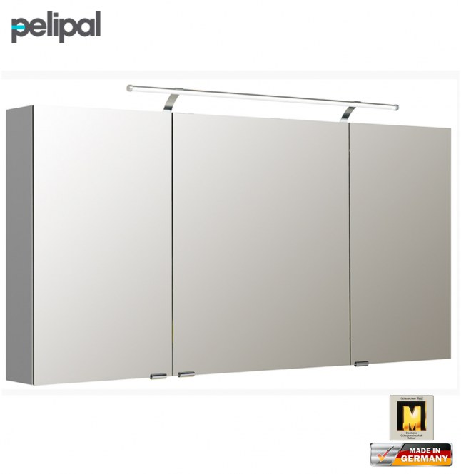 pelipal neutraler spiegelschrank 140 cm mit led aufsatzleuchte s5 spsd 25 impuls home. Black Bedroom Furniture Sets. Home Design Ideas