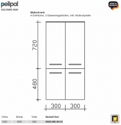 pelipal solitaire 9025 waschtisch set 84 cm mineral waschtisch unterschrank mit gestellf en. Black Bedroom Furniture Sets. Home Design Ideas