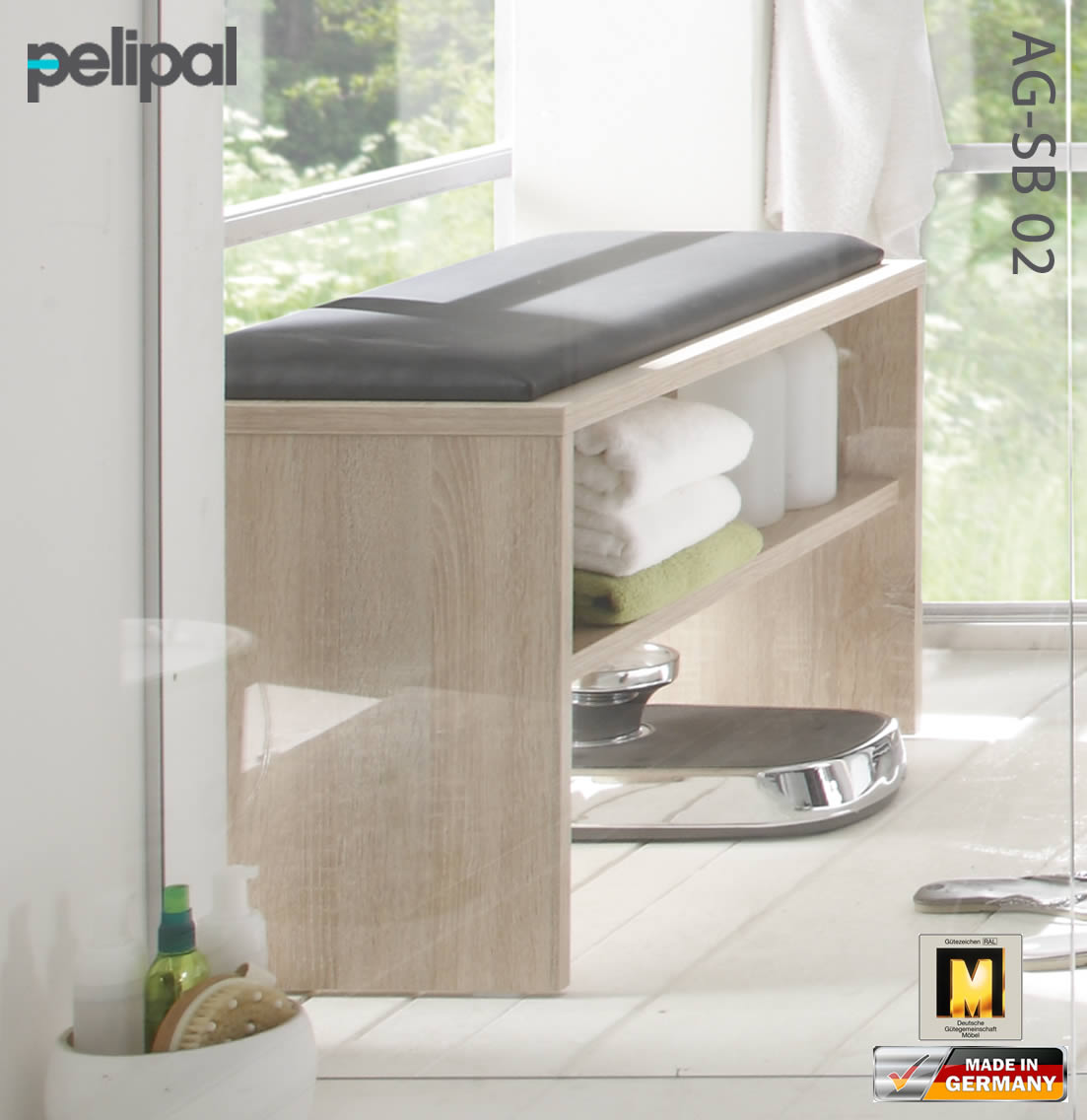 pelipal solitaire 6005 sitzbank 90 cm impuls home. Black Bedroom Furniture Sets. Home Design Ideas