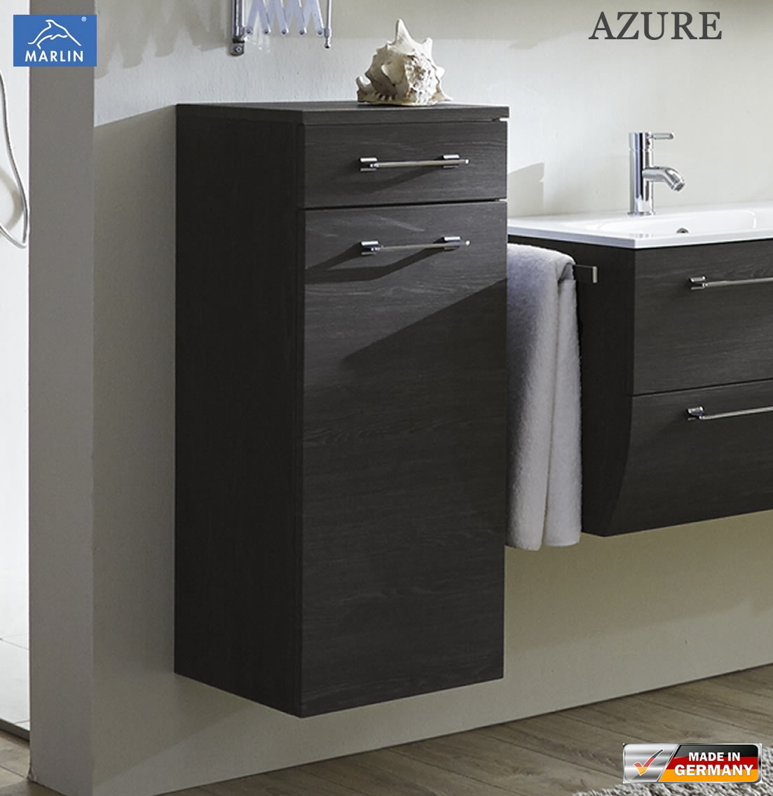 marlin azure highboard 40 cm breite 1 t r 1 auszug impuls home. Black Bedroom Furniture Sets. Home Design Ideas