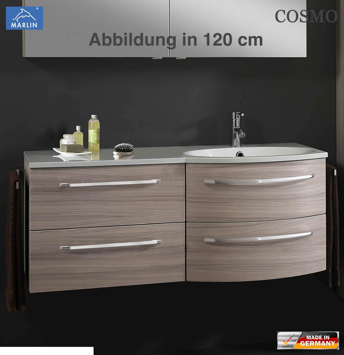 marlin cosmo waschtisch set 90 cm links version impuls home. Black Bedroom Furniture Sets. Home Design Ideas