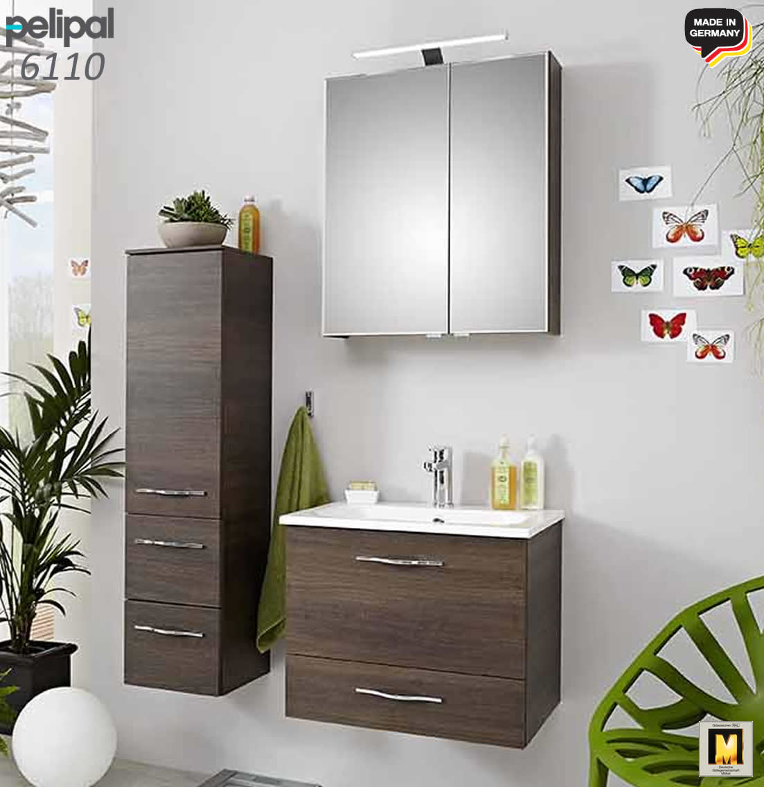 pelipal solitaire 6110 badm bel set 61 cm v1 2 impuls home. Black Bedroom Furniture Sets. Home Design Ideas