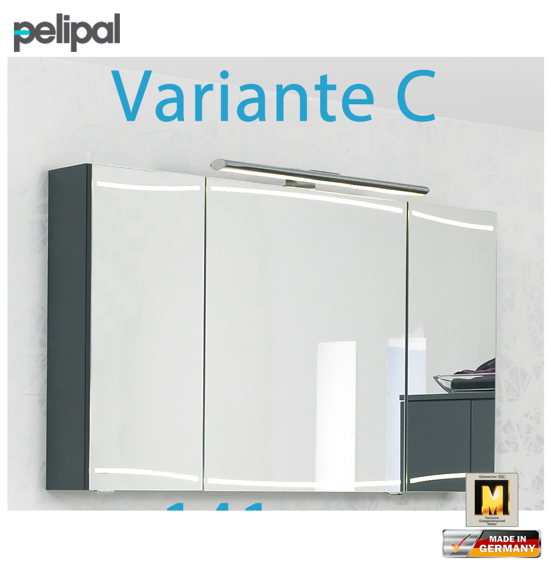 pelipal cassca spiegelschrank 140 cm cs sps 09 variante c impuls home. Black Bedroom Furniture Sets. Home Design Ideas