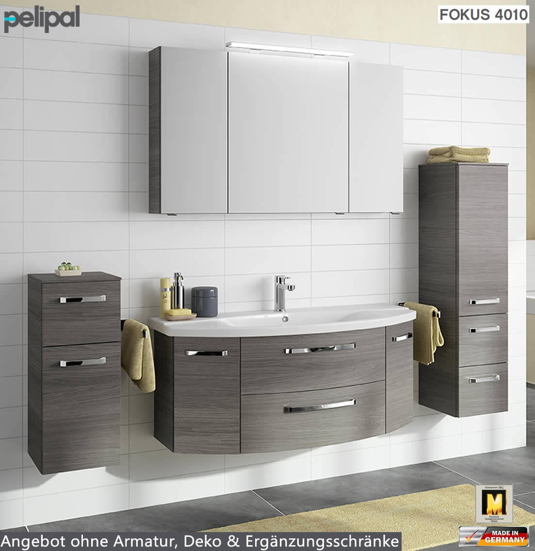pelipal fokus 4010 badm bel set 3tlg 120 cm mit keramik waschtisch v1 2 impuls home. Black Bedroom Furniture Sets. Home Design Ideas