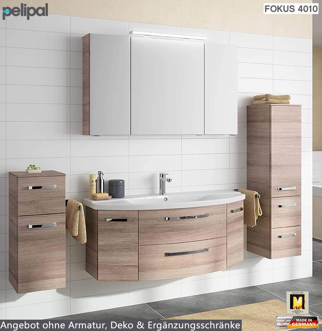 pelipal fokus 4010 badm bel set 3tlg 120 cm mit keramik. Black Bedroom Furniture Sets. Home Design Ideas