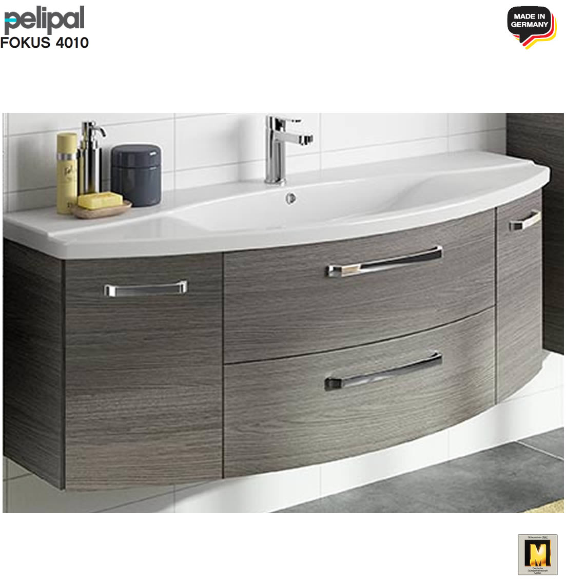 pelipal fokus 4010 waschtisch set 2tlg 144 cm mit keramik waschtisch v2 2 impuls home. Black Bedroom Furniture Sets. Home Design Ideas