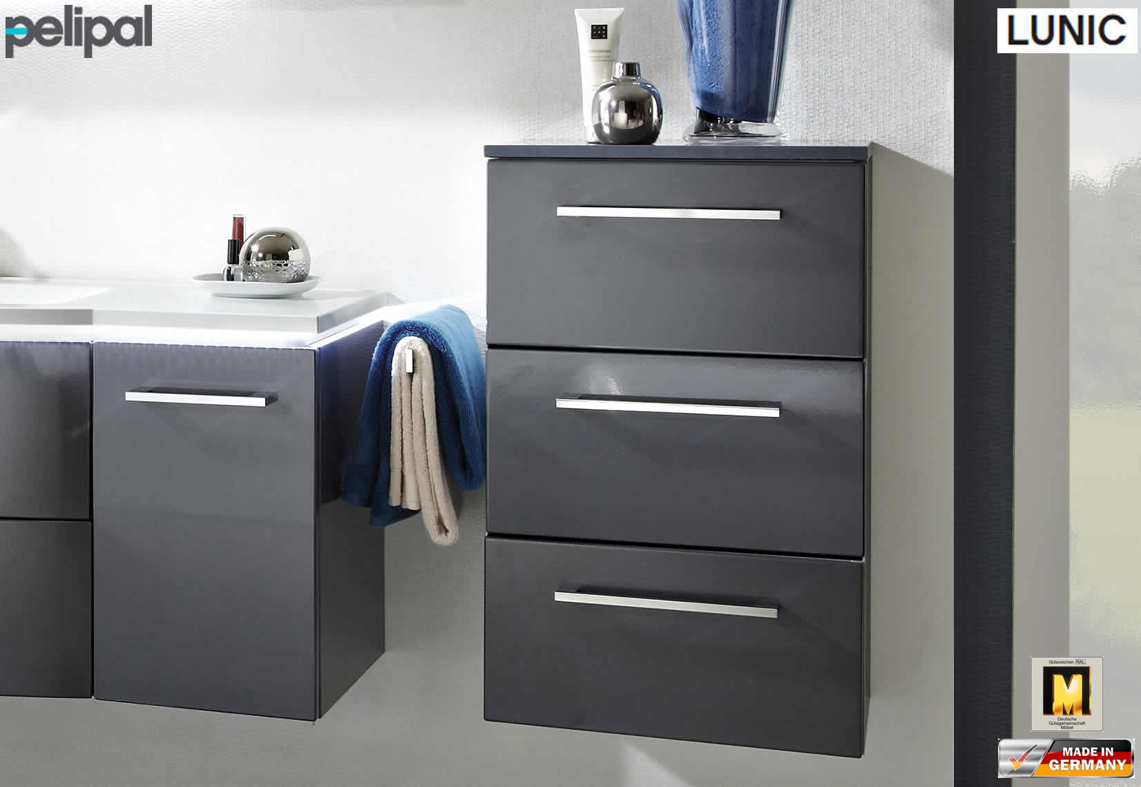 pelipal lunic highboard 45 cm breite 3 ausz ge lu hb 03 impuls home. Black Bedroom Furniture Sets. Home Design Ideas