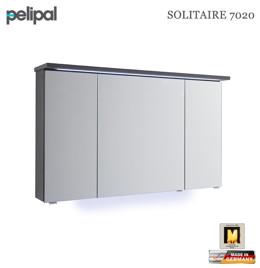 pelipal solitaire 7020 spiegelschrank 120 cm 7020 sps 02 impuls home. Black Bedroom Furniture Sets. Home Design Ideas