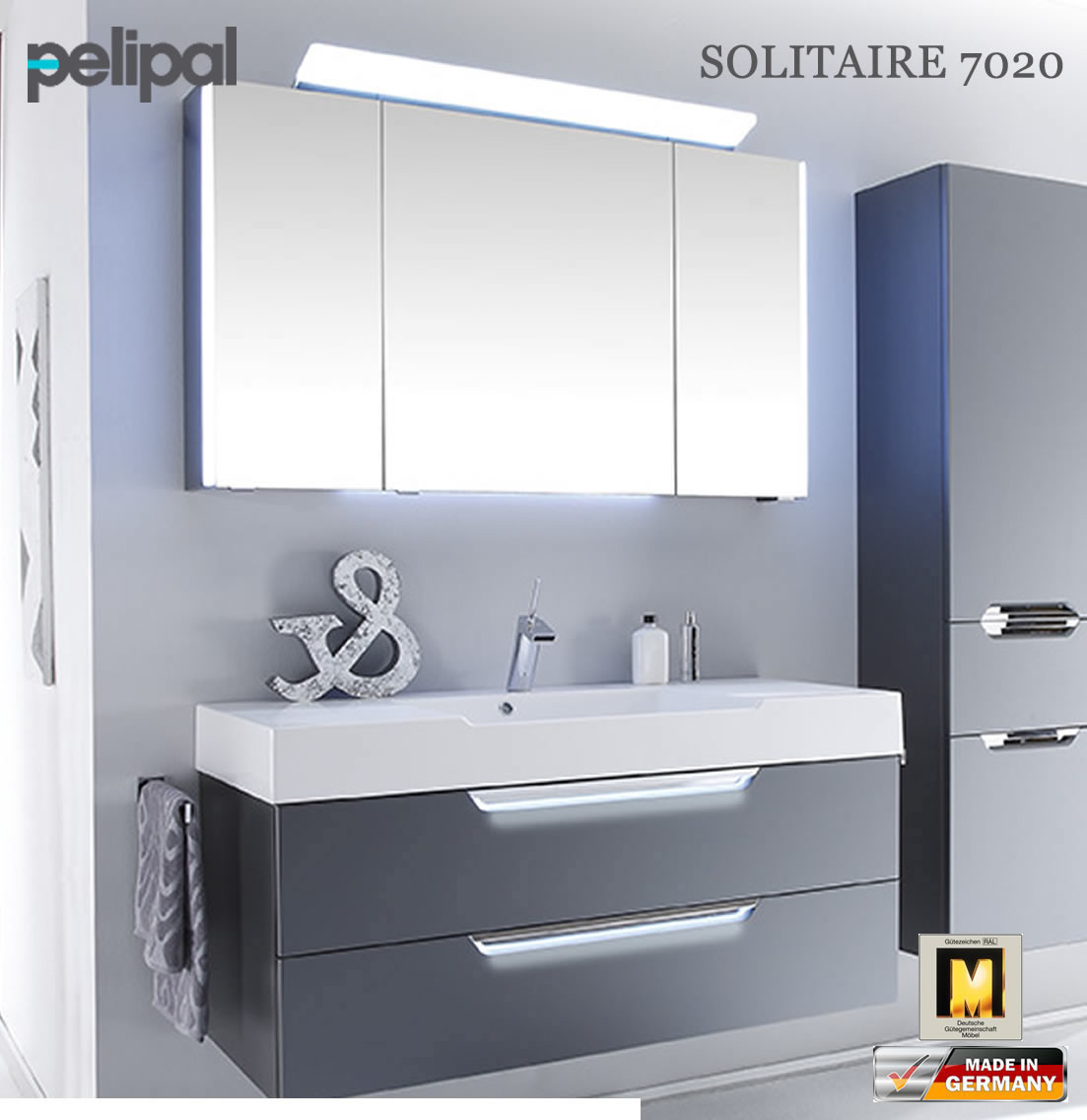 pelipal solitaire 7020 badm bel set mit 1200 mm waschtisch. Black Bedroom Furniture Sets. Home Design Ideas