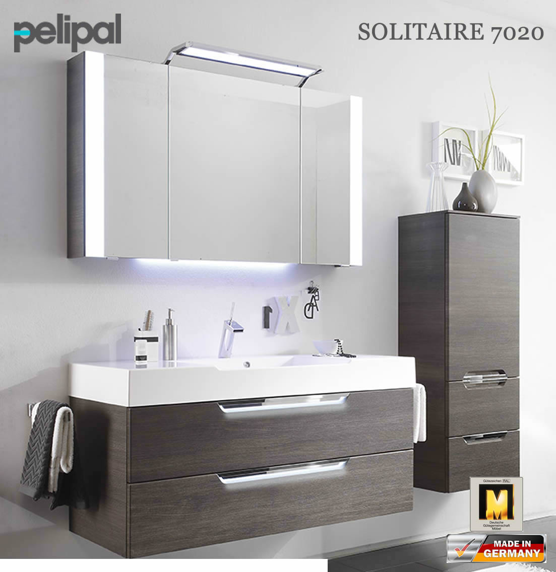 pelipal solitaire 7020 badm bel set mit 1200 mm waschtisch v2 6 impuls home. Black Bedroom Furniture Sets. Home Design Ideas