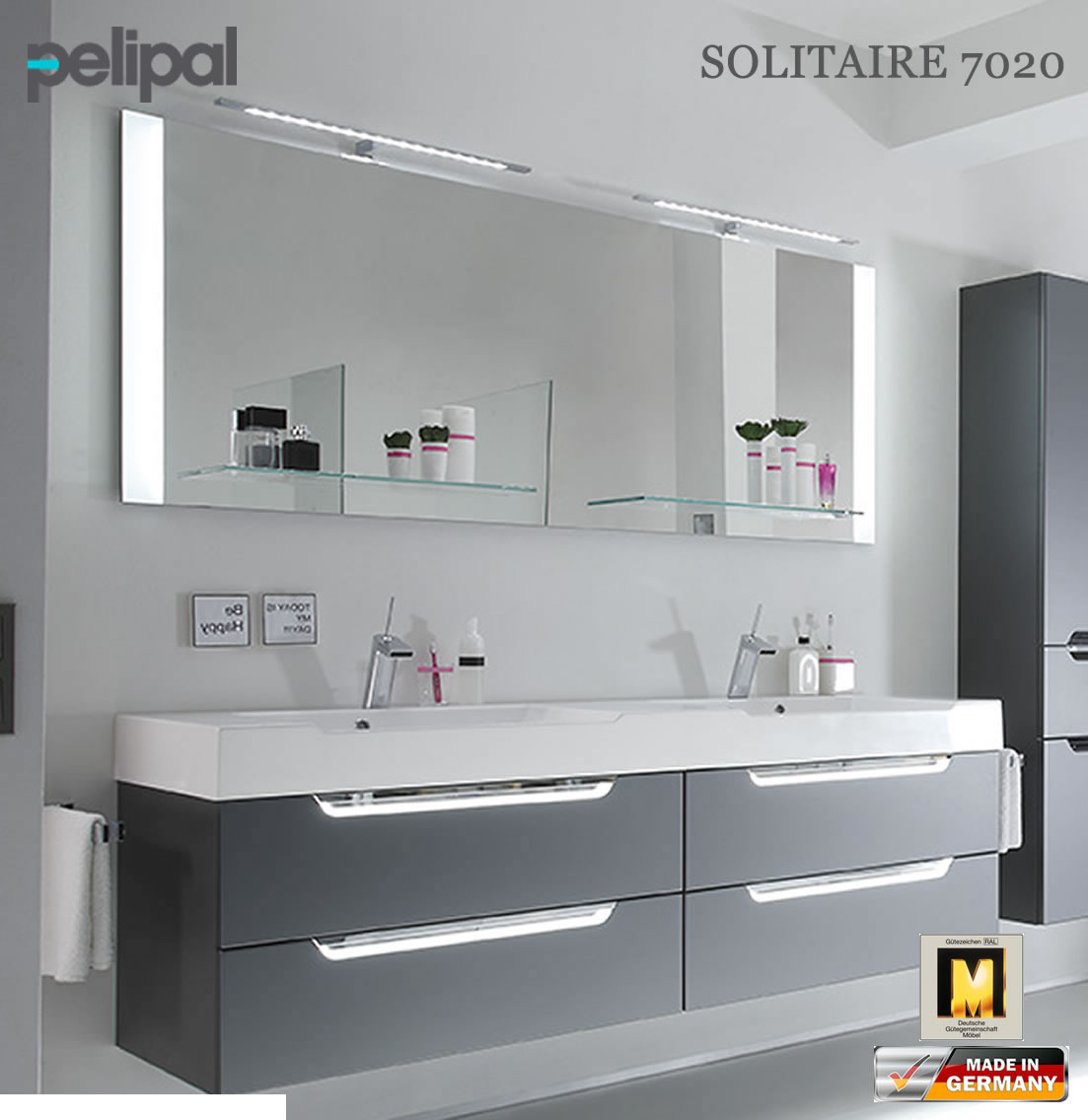 pelipal solitaire 7020 badm bel set mit 1710 mm. Black Bedroom Furniture Sets. Home Design Ideas