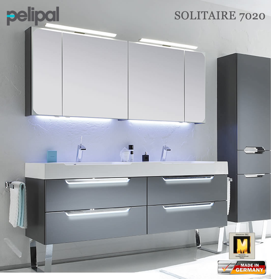 pelipal solitaire 7020 badm bel set mit 1710 mm doppelwaschtisch v4 3 impuls home. Black Bedroom Furniture Sets. Home Design Ideas