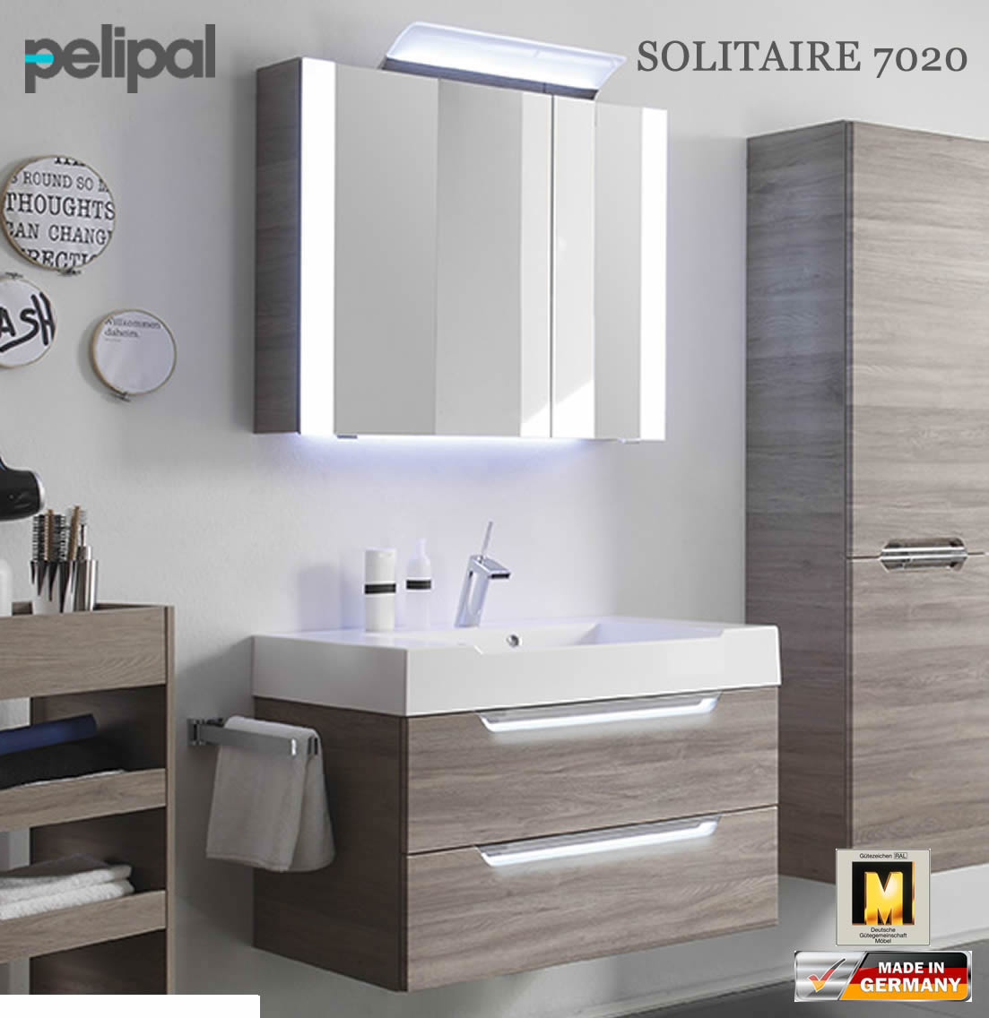 pelipal solitaire 7020 badm bel set mit 860 mm waschtisch v1 8 impuls home. Black Bedroom Furniture Sets. Home Design Ideas