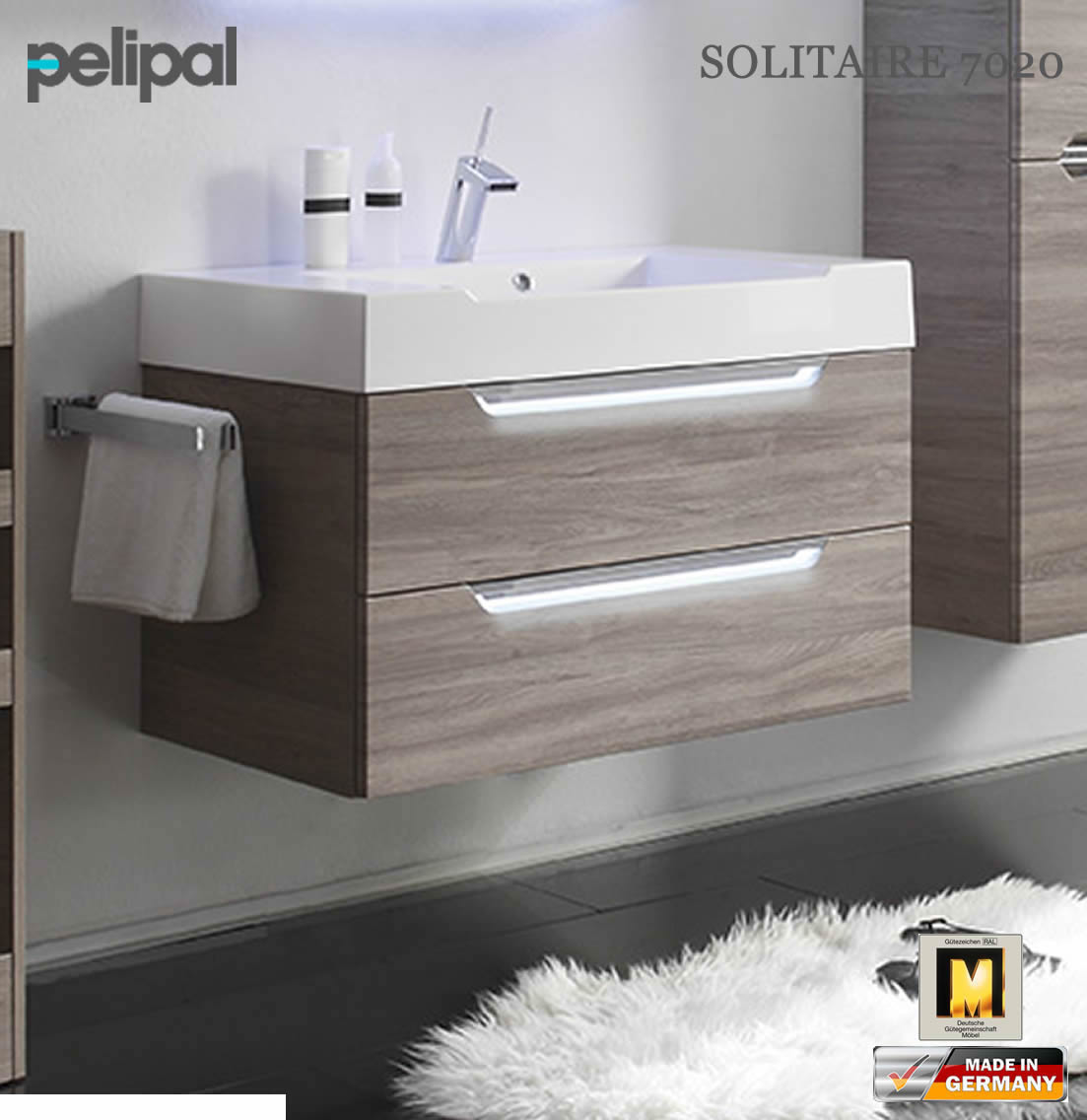 pelipal solitaire 7020 waschtischunterschrank set 86 cm 7020 wtusl 01 impuls home. Black Bedroom Furniture Sets. Home Design Ideas