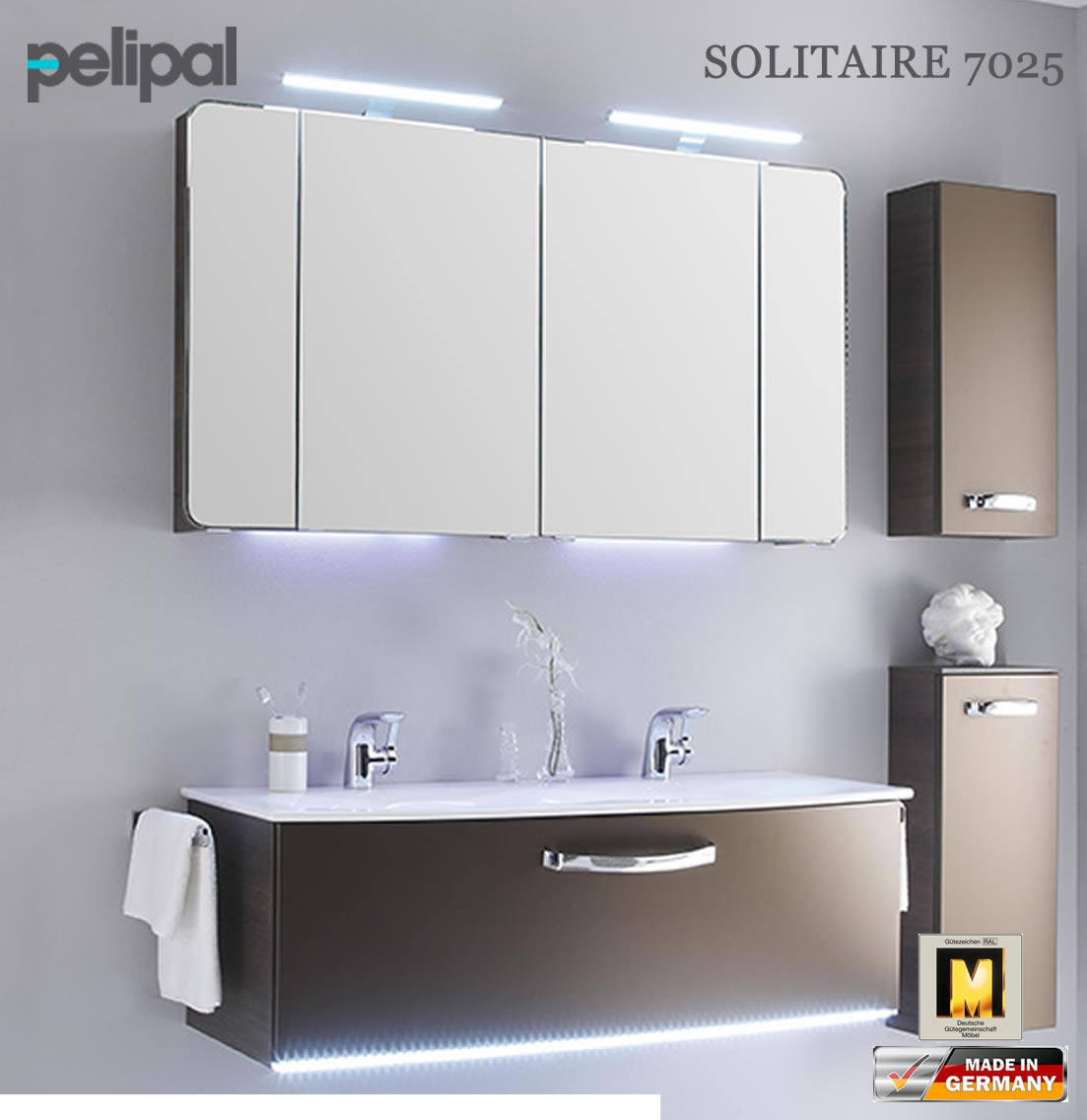 pelipal solitaire 7025 badm bel set mit 1220 mm doppelwaschtisch v3 6 impuls home. Black Bedroom Furniture Sets. Home Design Ideas