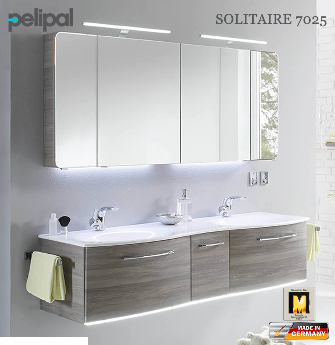 pelipal solitaire 7025 badm bel set mit 1730 mm. Black Bedroom Furniture Sets. Home Design Ideas