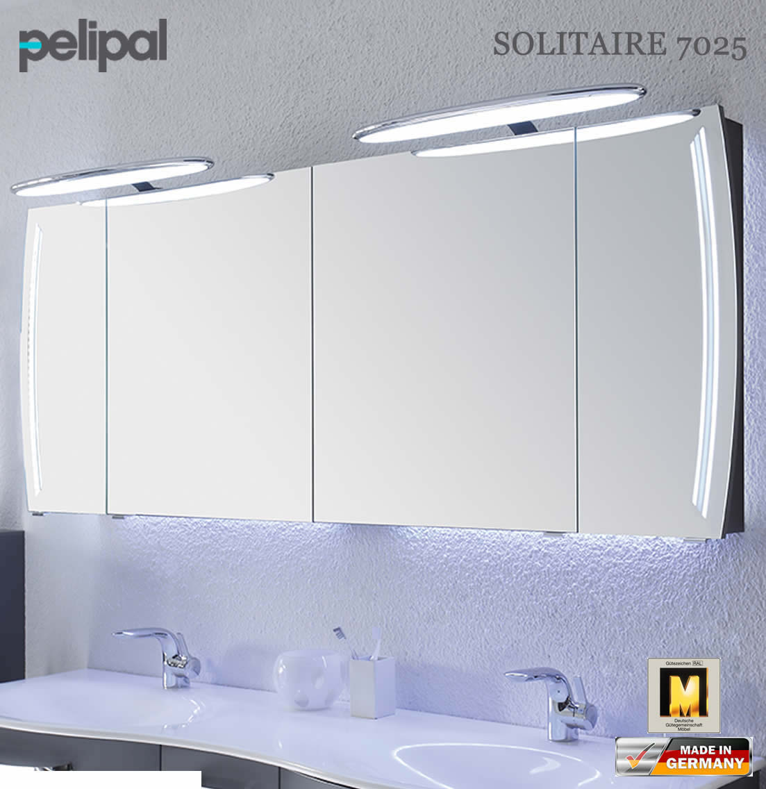 pelipal solitaire 7025 led spiegelschrank 180 cm 7025 sps 12 impuls home. Black Bedroom Furniture Sets. Home Design Ideas