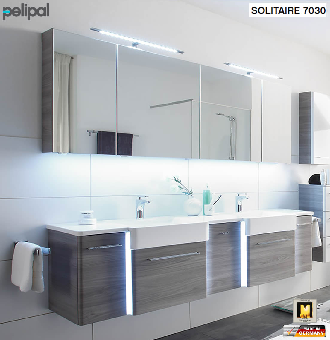 pelipal solitaire 7030 badm bel set mit 188 cm. Black Bedroom Furniture Sets. Home Design Ideas
