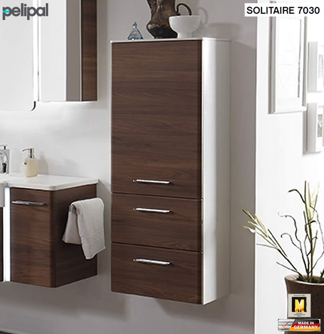 pelipal solitaire 7030 midischrank 45 cm breite mit 1 t r 2 ausz gen impuls home. Black Bedroom Furniture Sets. Home Design Ideas