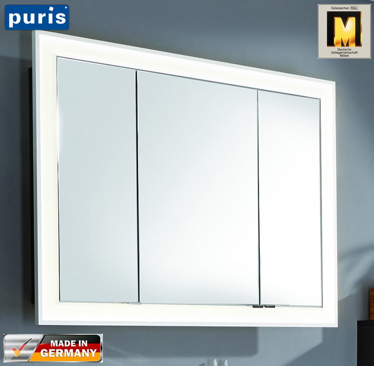 Puris Brillant Spiegelschrank 100 Cm S2a439051 Impuls Home