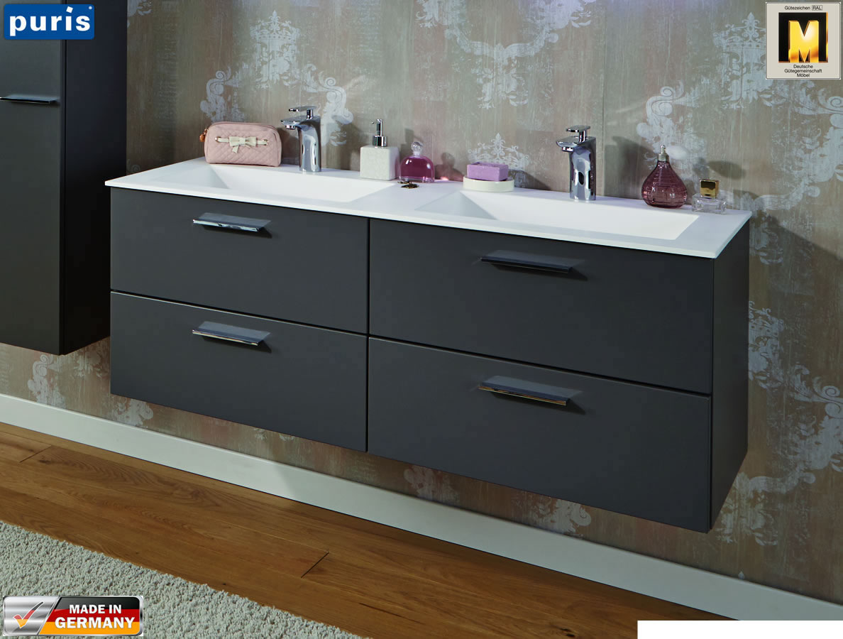 puris milano waschtisch set 120 cm wms222d61 wua331201. Black Bedroom Furniture Sets. Home Design Ideas