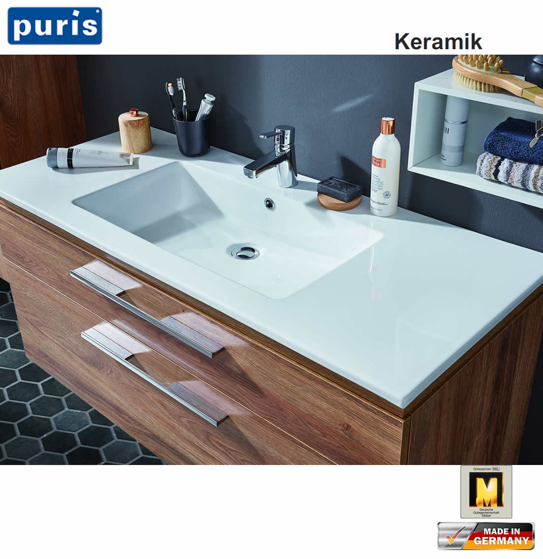 puris cool line waschtisch set 120 cm keramik led optional impuls home. Black Bedroom Furniture Sets. Home Design Ideas