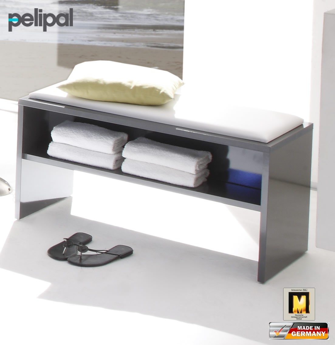 pelipal solitaire 7005 sitzbank 60 cm oder 90 cm rd sb 01 rd sb 02 impuls home. Black Bedroom Furniture Sets. Home Design Ideas