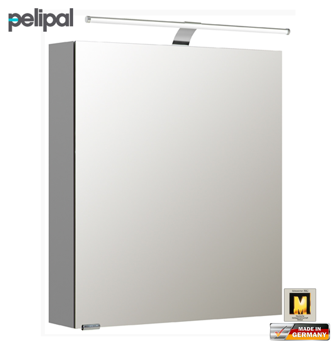 pelipal neutraler spiegelschrank 60 cm mit led. Black Bedroom Furniture Sets. Home Design Ideas