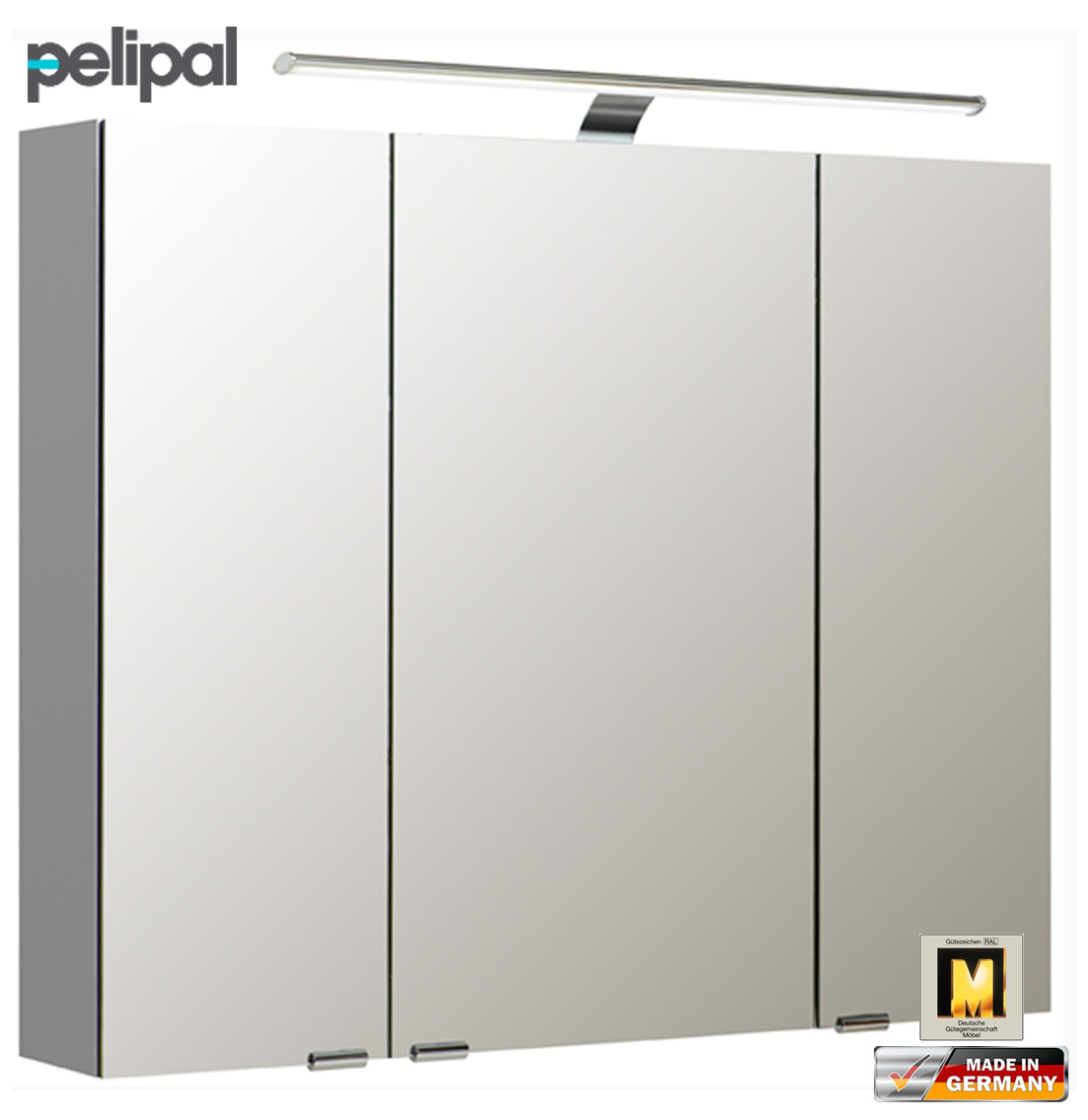 pelipal neutraler spiegelschrank 90 cm mit led aufsatzleuchte s5 spsd 13 impuls home. Black Bedroom Furniture Sets. Home Design Ideas