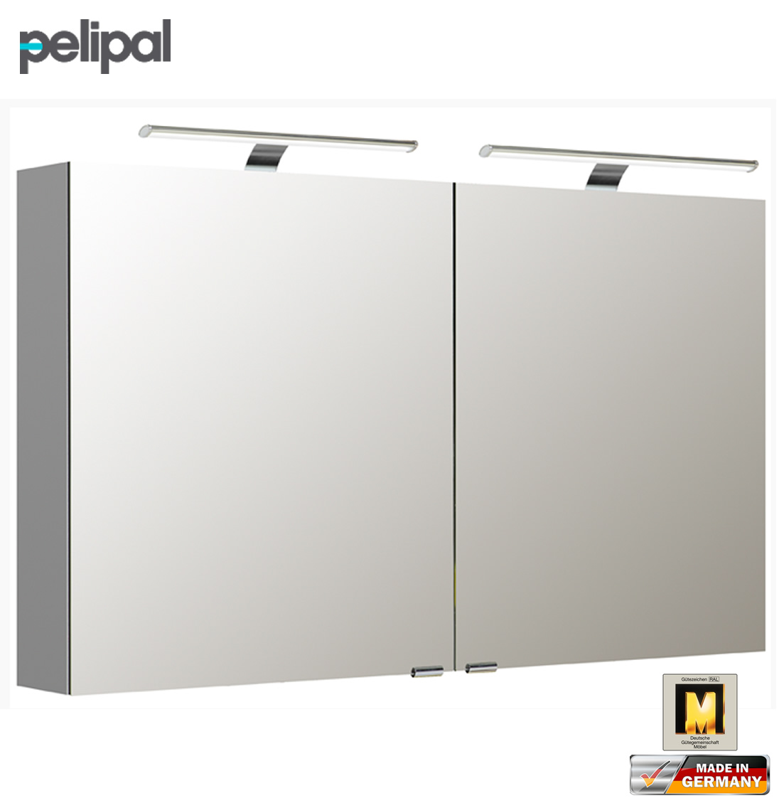 pelipal neutraler spiegelschrank 120 cm mit led aufsatzleuchten s5 spsd 20 impuls home. Black Bedroom Furniture Sets. Home Design Ideas