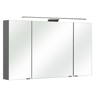 pelipal neutraler spiegelschrank 120 cm mit led. Black Bedroom Furniture Sets. Home Design Ideas