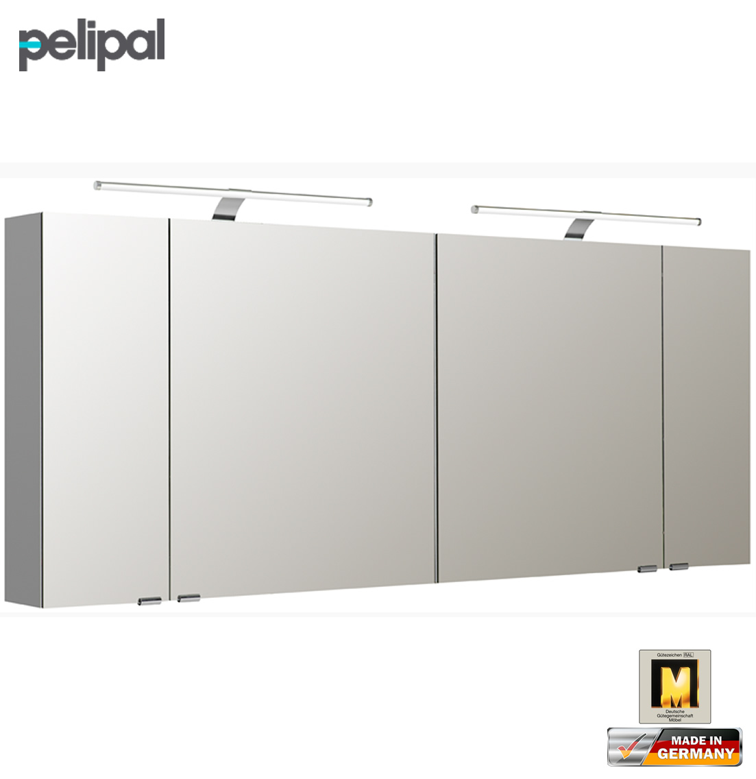 pelipal neutraler spiegelschrank 170 cm mit led aufsatzleuchten s5 spsd 32 impuls home. Black Bedroom Furniture Sets. Home Design Ideas