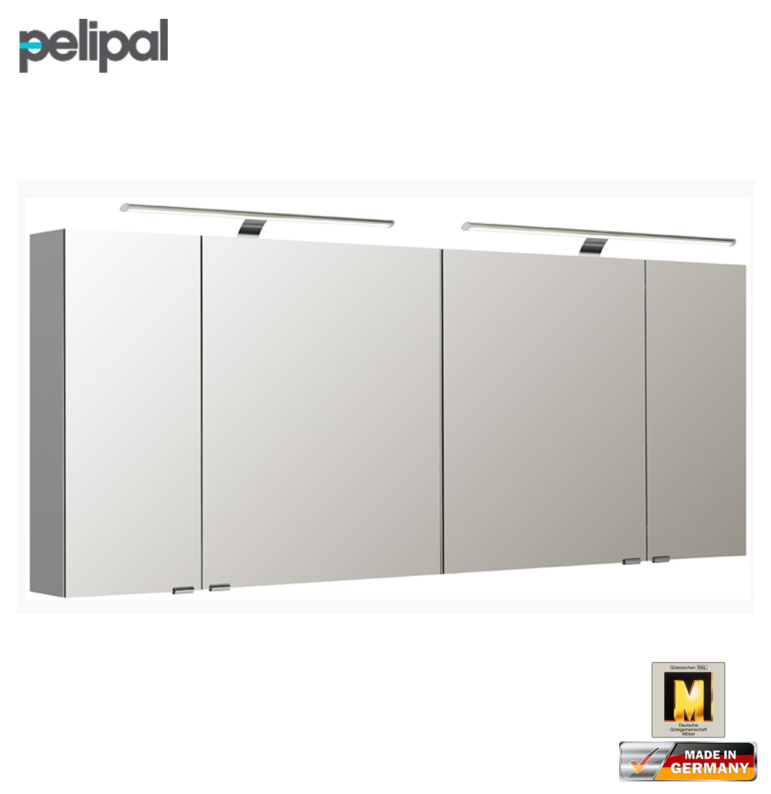 pelipal neutraler spiegelschrank 180 cm mit led aufsatzleuchten s5 spsd 34 impuls home. Black Bedroom Furniture Sets. Home Design Ideas