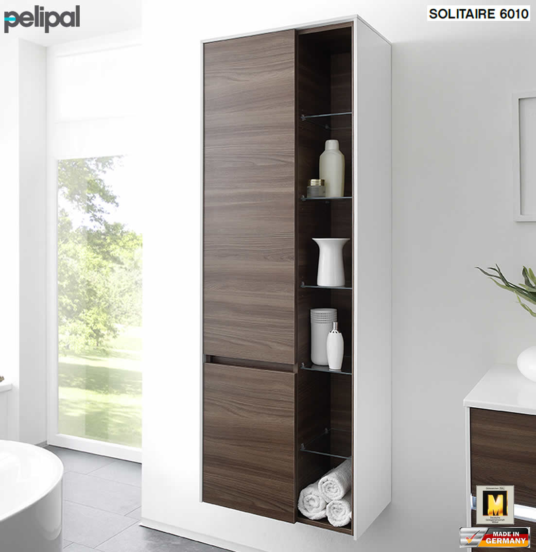 pelipal solitaire 6010 hochschrank mit regal und 2 t ren 6010 hsr 01 impuls home. Black Bedroom Furniture Sets. Home Design Ideas